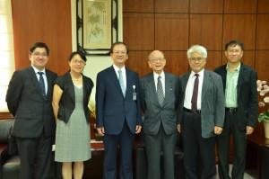 諾貝爾化學獎得主 Akira Suzuki 教授 (右三) 蒞臨本校參訪與演講
