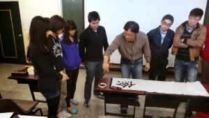傳習書院於CS407教室舉辦「書法」共學日活動。