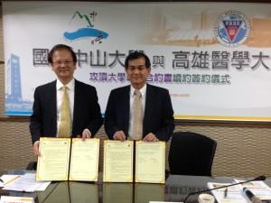 劉景寬校長與楊弘敦校長代表攻頂大學聯盟續約簽約